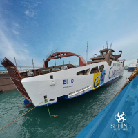 Launching of Caronte & Tourist's new ferry ELIO at Sefine
